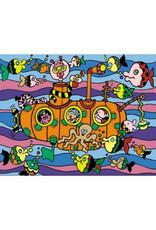 Painting Velvet Colorvelvet kleurplaat Onderzeeër