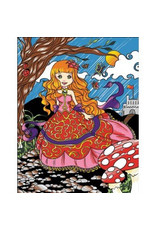 Painting Velvet Colorvelvet kleurplaat Prinsesje