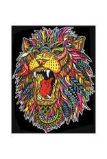 Painting Velvet Colorvelvet kleurplaat Leeuw