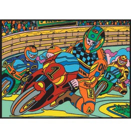 Painting Velvet Colorvelvet kleurplaat Motorcross