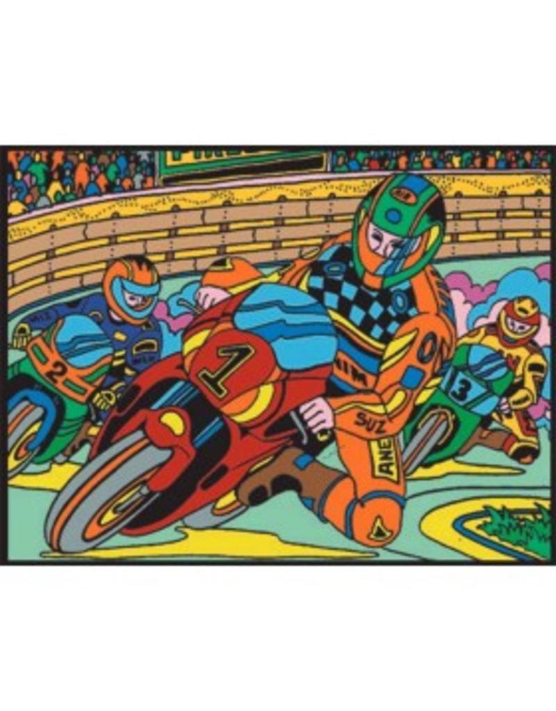 Painting Velvet Colorvelvet kleurplaat Motorcross