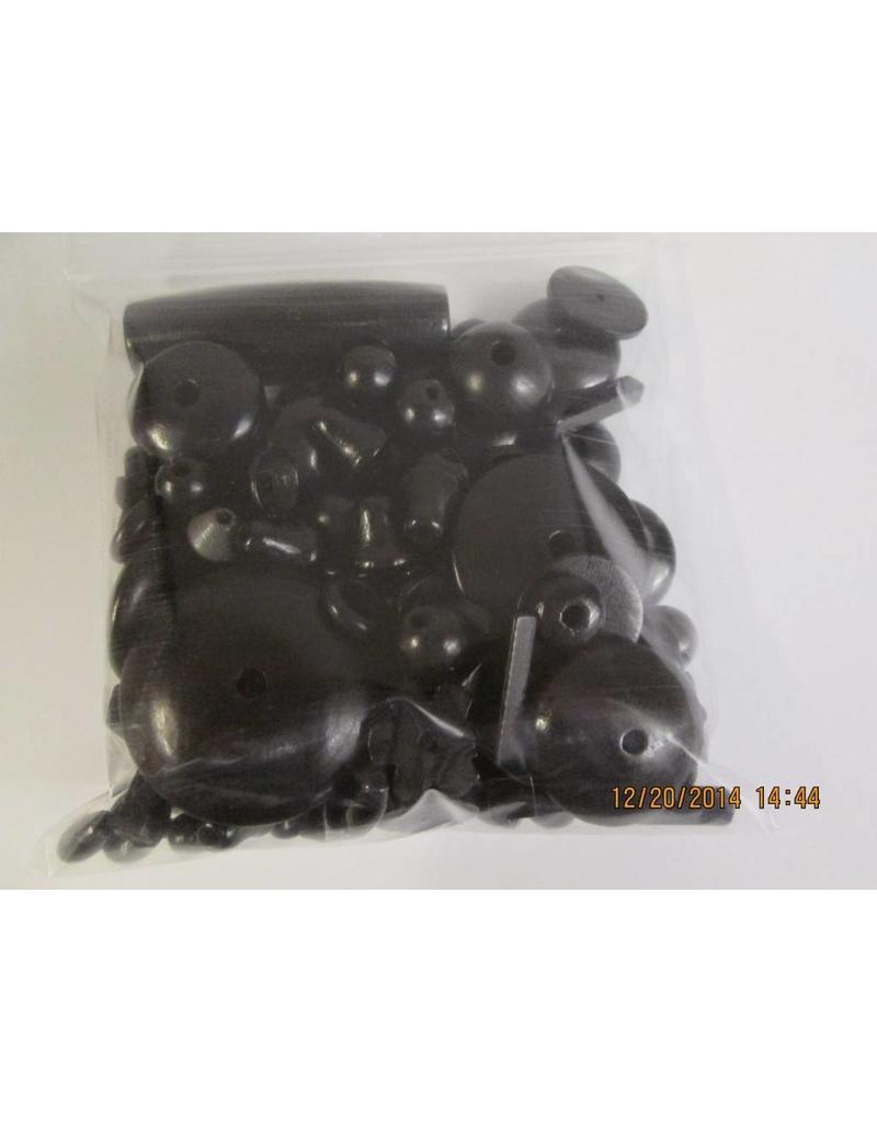 Houten kralen zwart