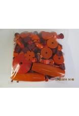 Houten kralen oranje