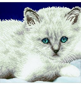 Diamond Dotz Diamond Painting pakket White Cat