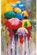 Diamond Dotz Diamond Painting pakket Rainy Day