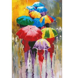 Diamond Dotz Diamond Painting pakket Rainy Day
