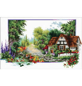 Needleart World Borduurpakket English Cottage Stream