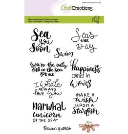 CraftEmotions Clear stempel  - ocean quotes