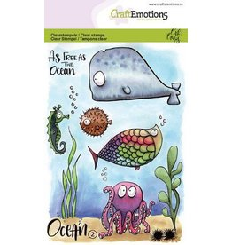 CraftEmotions Clear stempel  - ocean 2