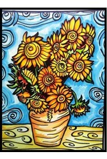 Painting Velvet Colorvelvet kleurplaat VAN GOGH Zonnebloemen