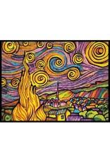 Painting Velvet Colorvelvet kleurplaat VAN GOGH Sterrennacht