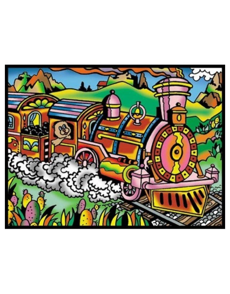 Painting Velvet Colorvelvet kleurplaat Trein