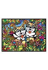 Painting Velvet Colorvelvet kleurplaat Husky's