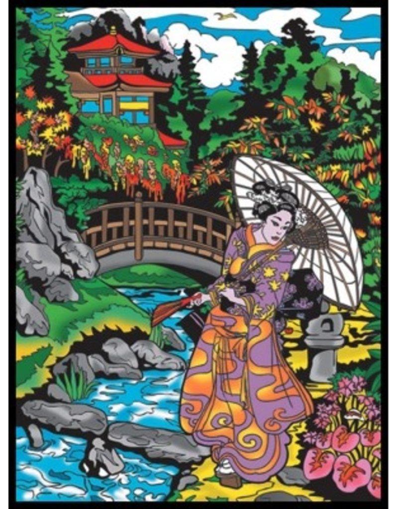Painting Velvet Colorvelvet kleurplaat Geisha