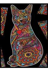 Painting Velvet Colorvelvet kleurplaat Perzische Kat