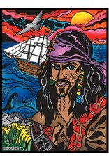 Painting Velvet Colorvelvet kleurplaat Piraat