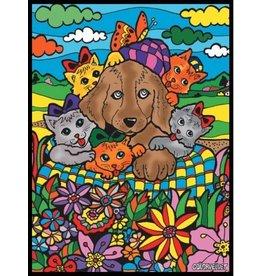 Painting Velvet Colorvelvet kleurplaat Honden en Katten