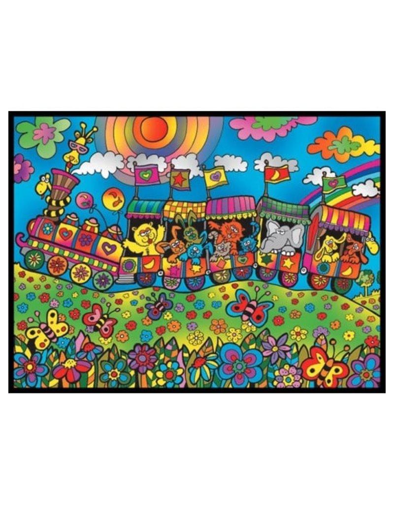 Painting Velvet Colorvelvet kleurplaat Dierentrein