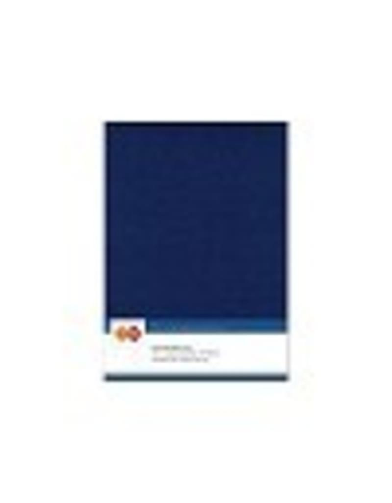 Linnen karton A5 donkerblauw