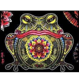 Painting Velvet Colorvelvet kleurplaat  Kikker