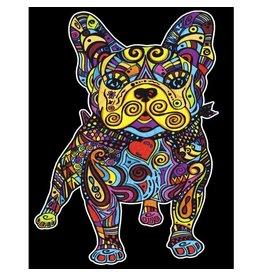 Painting Velvet Colorvelvet kleurplaat  Franse Bulldog
