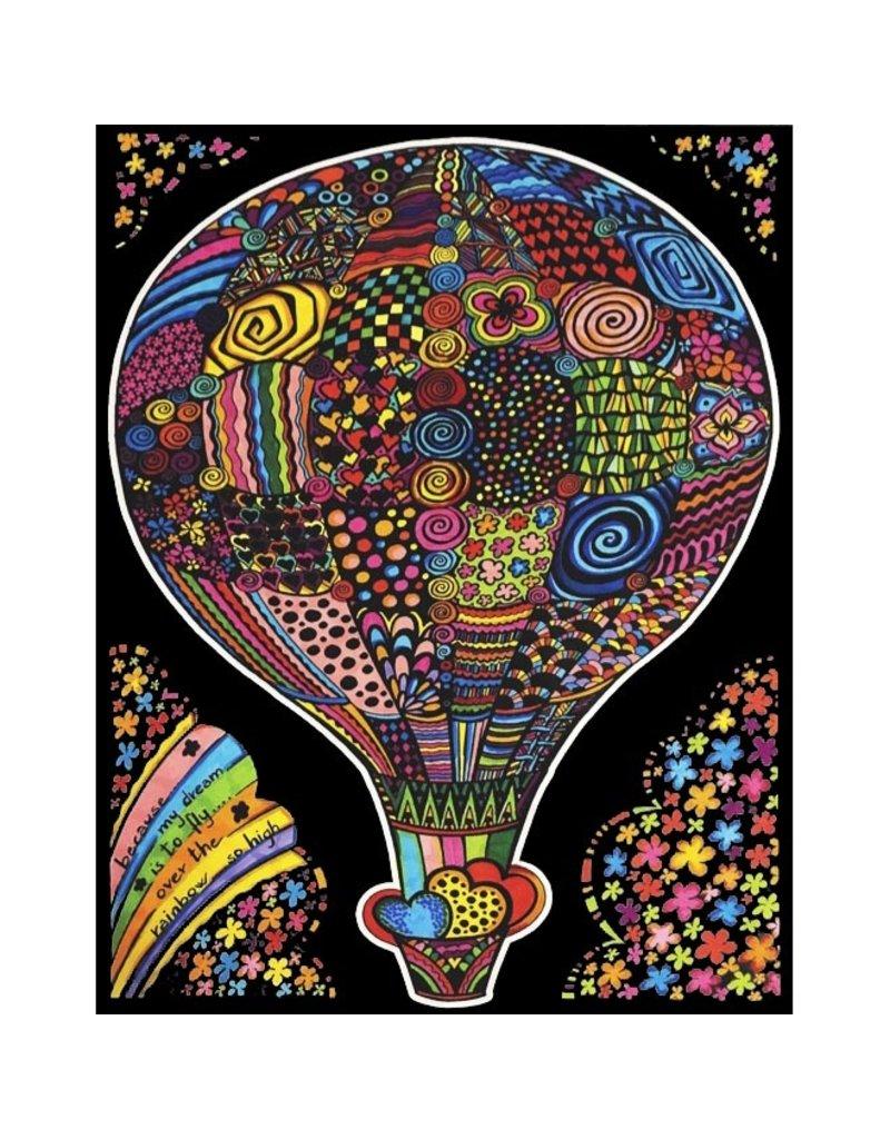 Painting Velvet Colorvelvet kleurplaat  Ballon
