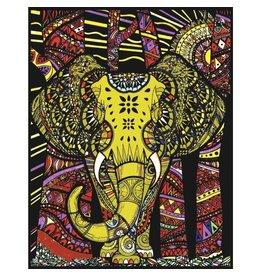 Painting Velvet Colorvelvet kleurplaat  Olifantkop