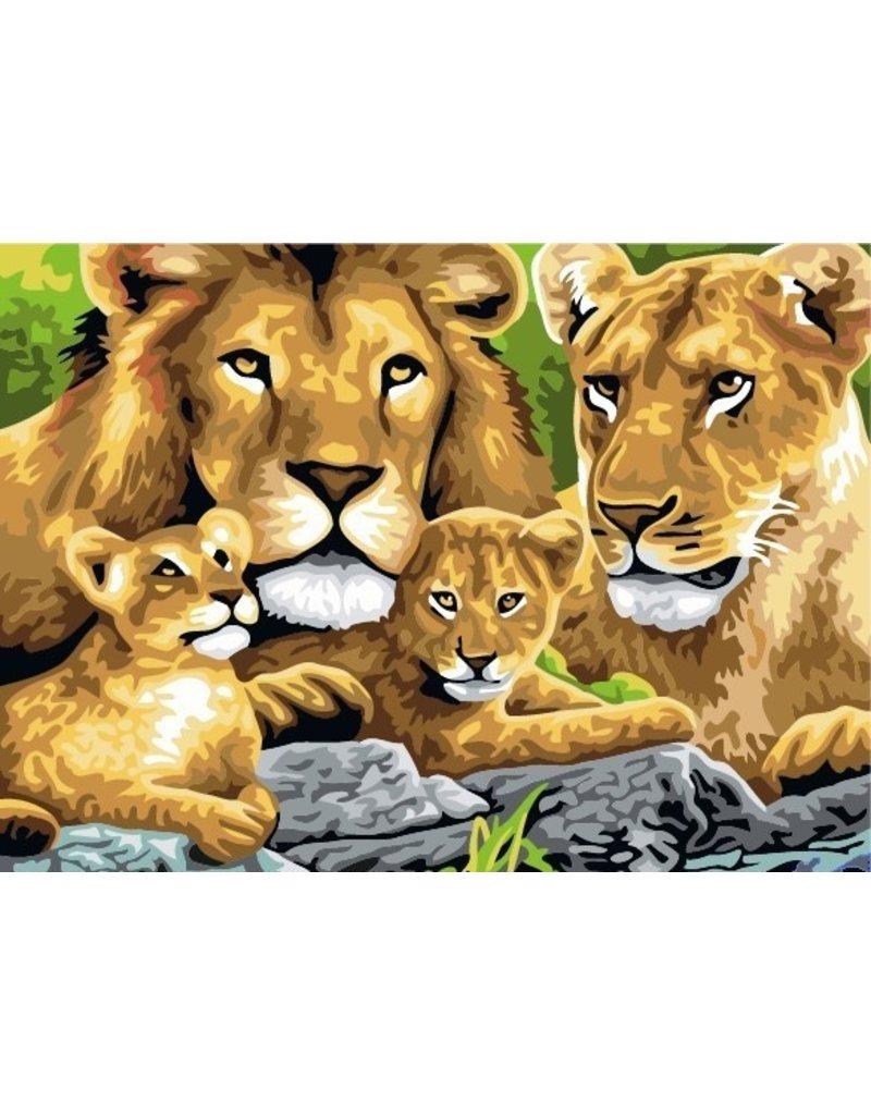 Schilderen op nummer Leeuwen