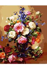 Schilderen op nummer Vaas met bloemen