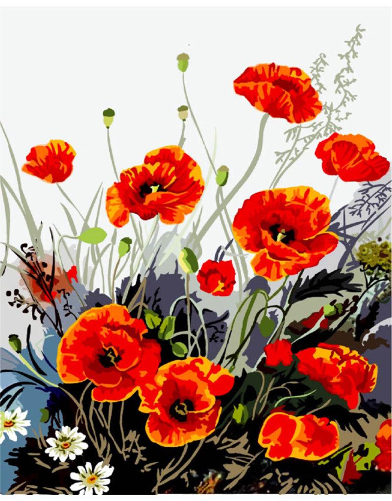 Schilderen op nummer Wilde bloemen