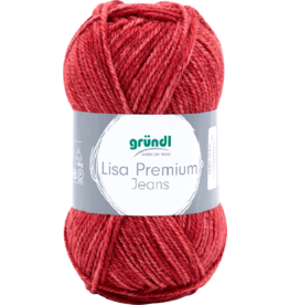 Grundl Lisa premium jeans gemêleerd rood