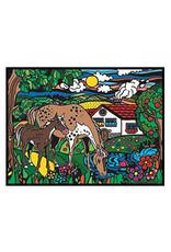 Painting Velvet Colorvelvet kleurplaat  Paarden