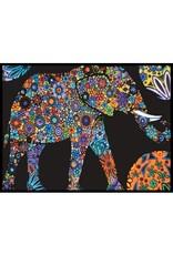 Painting Velvet Colorvelvet kleurplaat  Olifant