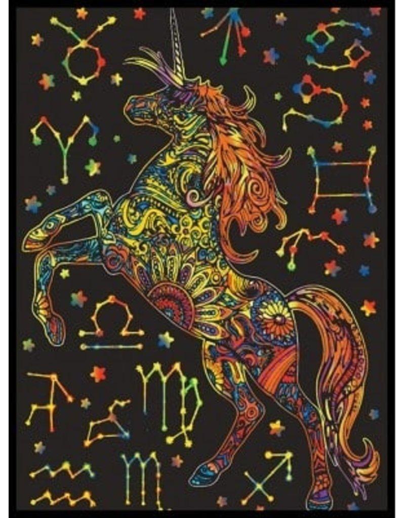 Painting Velvet Colorvelvet kleurplaat  Eenhoorn