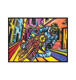 Painting Velvet Colorvelvet kleurplaat  Motorrijder
