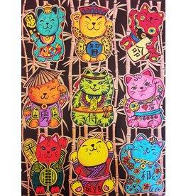 Painting Velvet Colorvelvet kleurplaat  Chinese kittens
