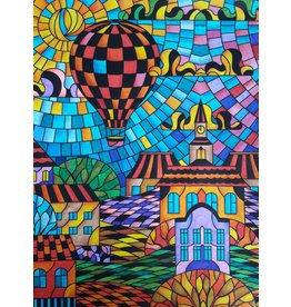 Painting Velvet Colorvelvet kleurplaat  Heteluchtballon