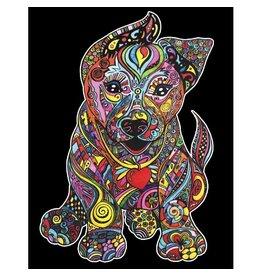 Painting Velvet Colorvelvet kleurplaat  Puppy