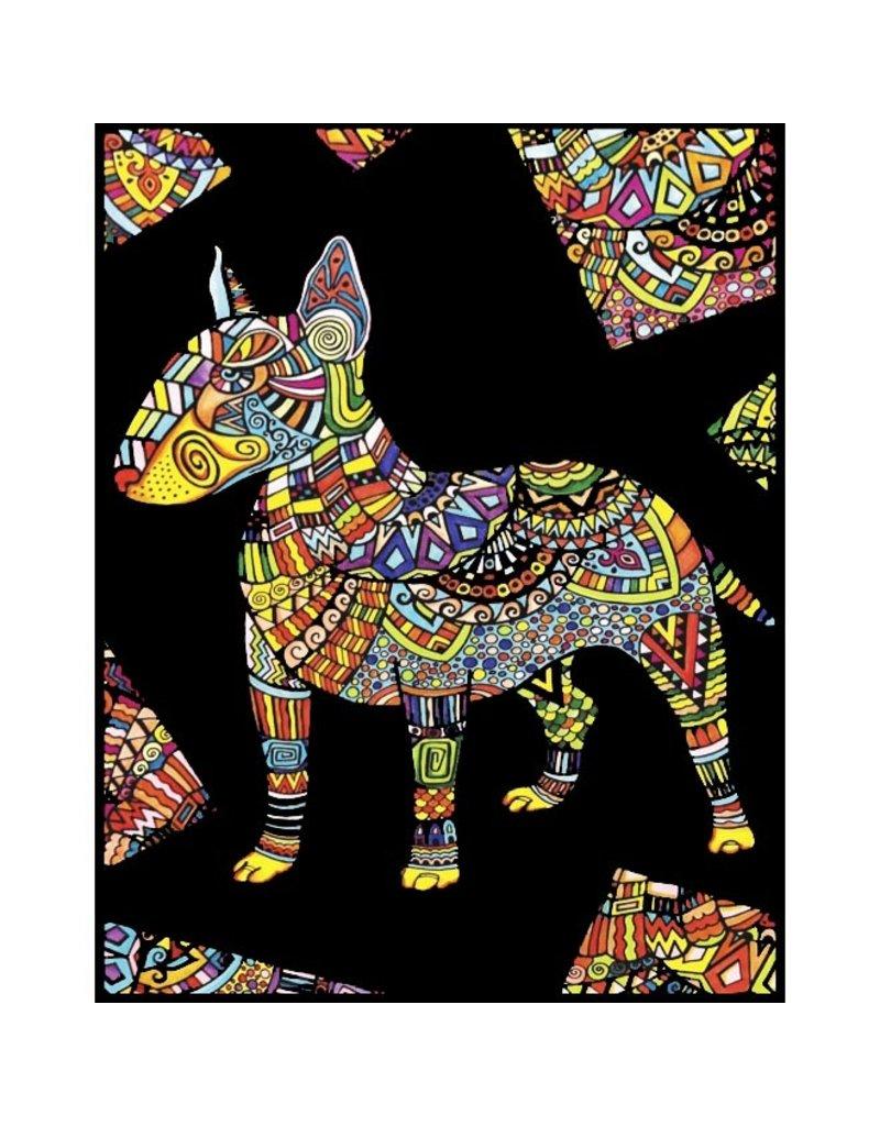 Painting Velvet Colorvelvet kleurplaat  Bull Terrier