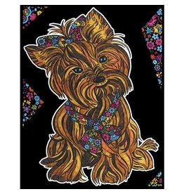 Painting Velvet Colorvelvet kleurplaat  Yorkshire Terrier