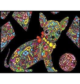 Painting Velvet Colorvelvet kleurplaat  Chihuahua