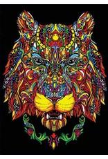 Painting Velvet Colorvelvet kleurplaat  Leeuwinnenkop