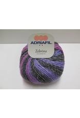 Adriafil Zebrino garen paars/grijs/blauw
