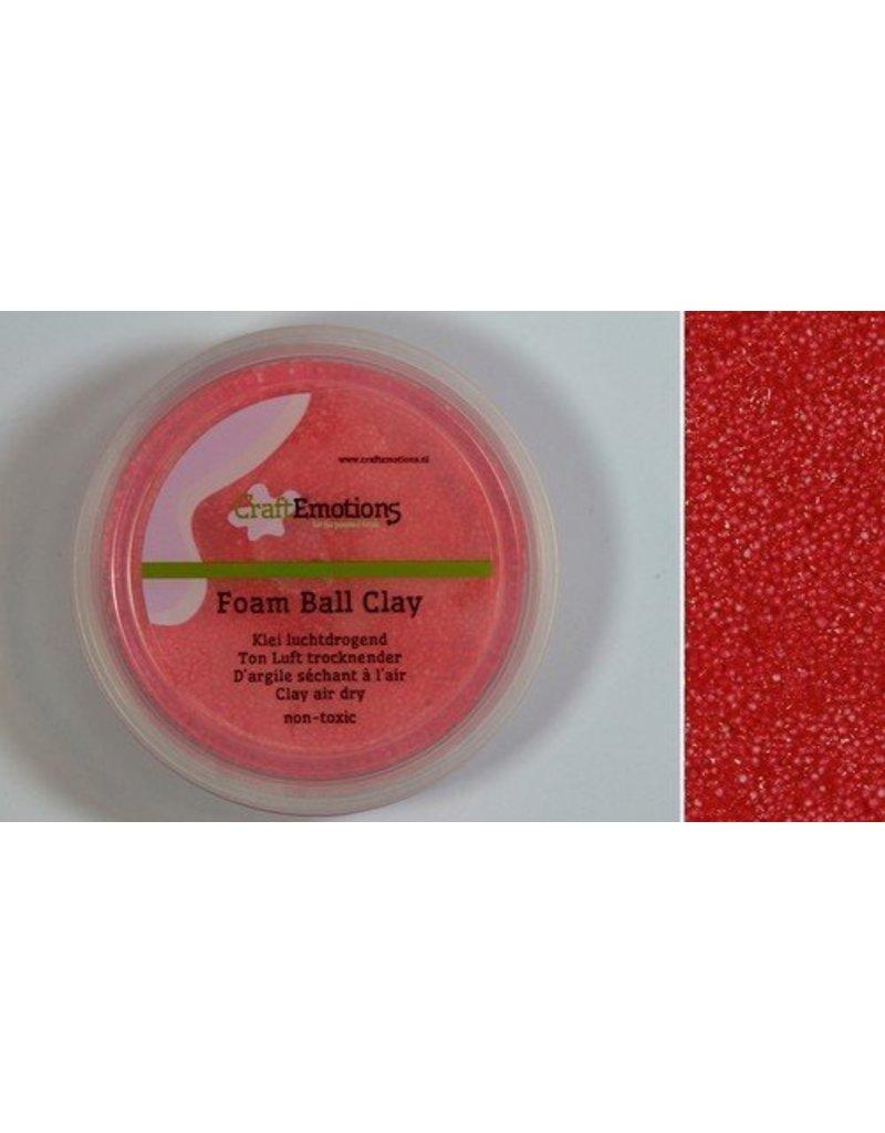 Foam ball clay rood