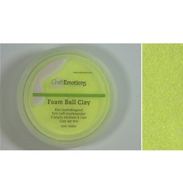 Foam ball clay citroengeel