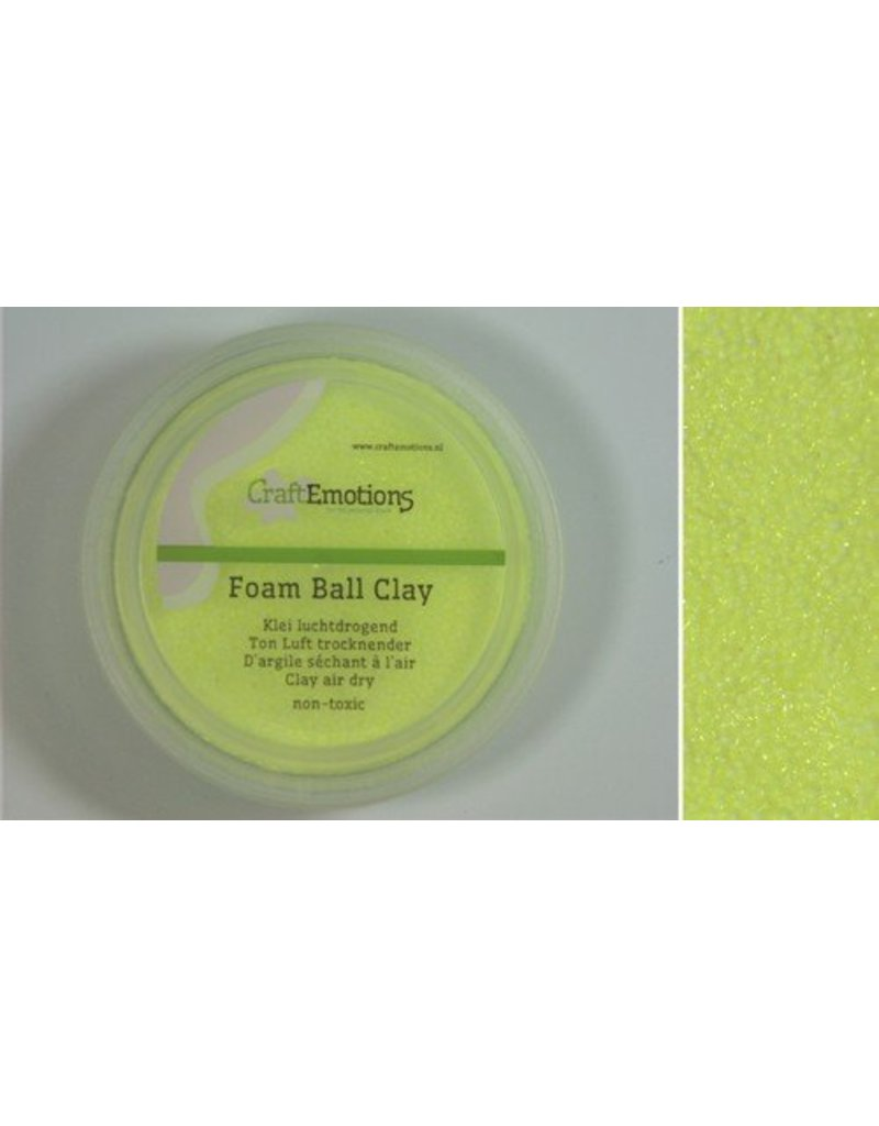 Foam ball clay citroengeel