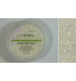 Foam ball clay wit glitter