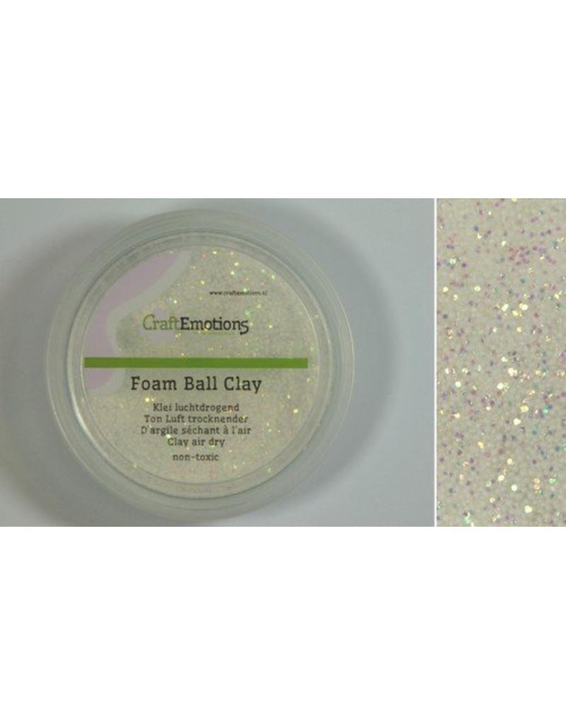 Foam ball clay wit glitter