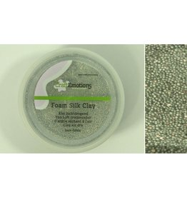 Foam ball clay zilver glitter
