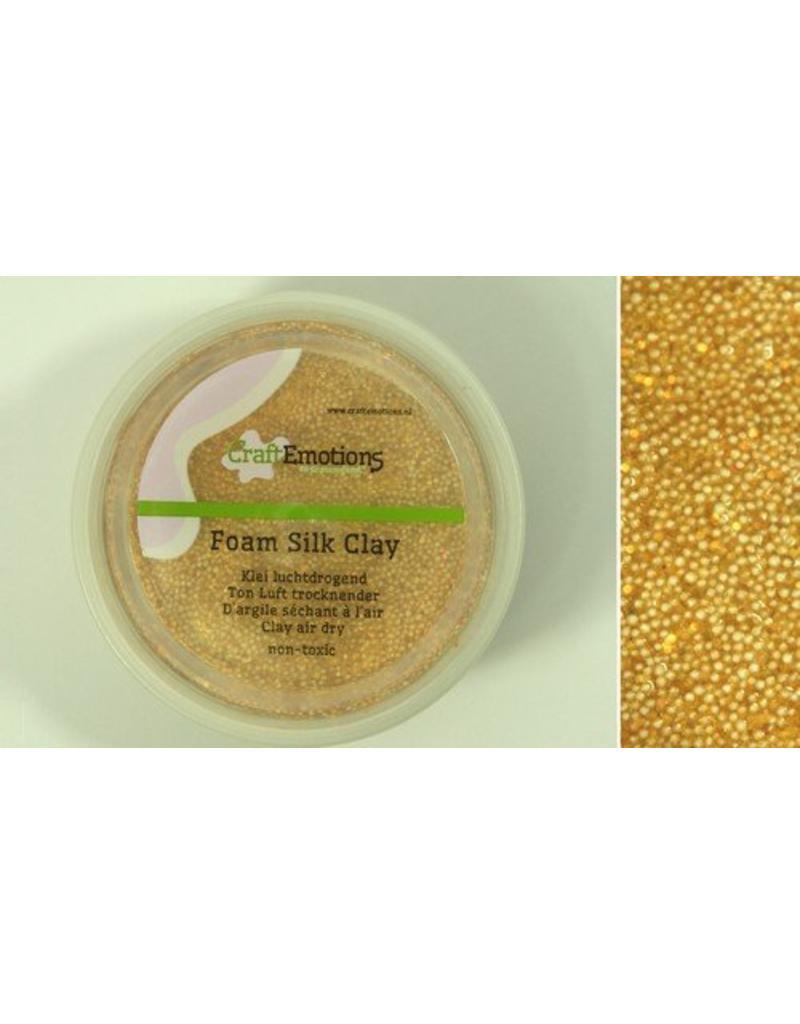 Foam ball clay goud glitter